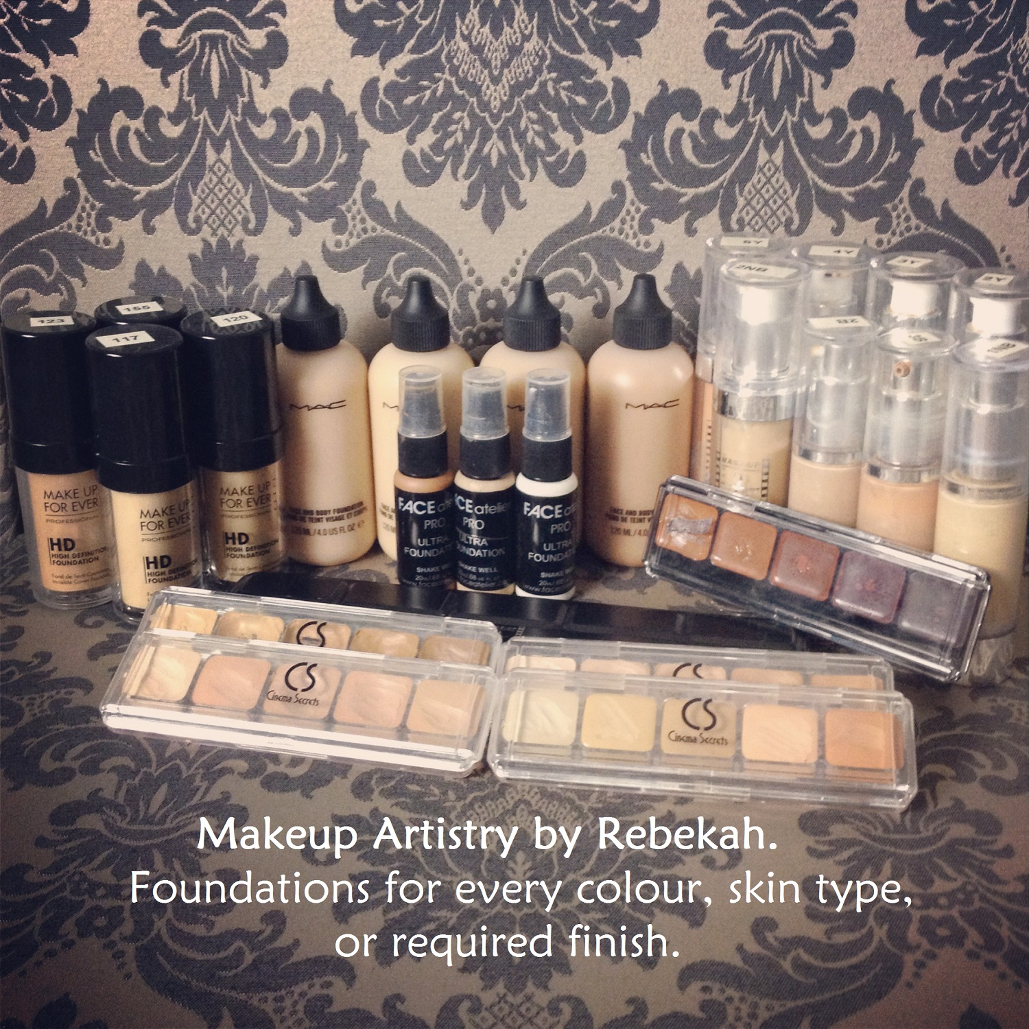 What makeup brands are in my kit? - Makeup Artistry by Rebekah